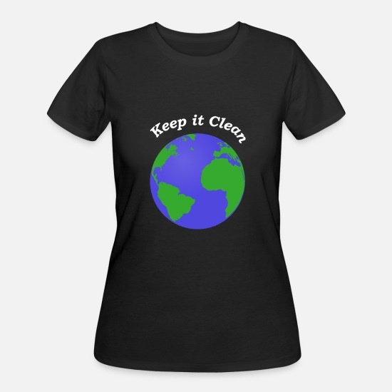 Hoax T-Shirts - Climate Change Keep it Clean - Women's 50/50 T-Shirt black