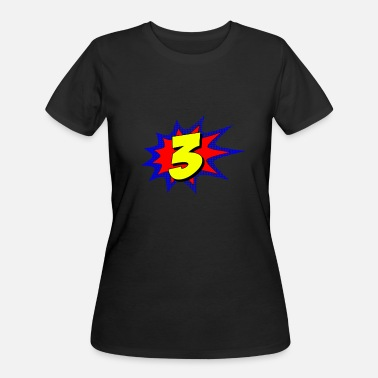 3 Year Old Superhero 3 Years Old Birthday - Women's 50/50 T-Shirt