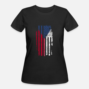 Central Europe Czech Gift America Flag Prague Central Europe - Women's 50/50 T-Shirt