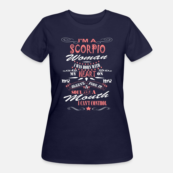 I'm A Scorpio Woman Women's 50/50 T-Shirt - navy