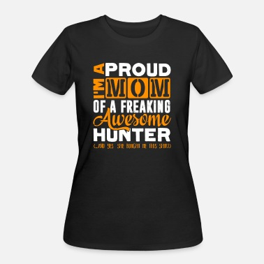 Hunting Proud Awesome Hunting Mom Shirt - Women's 50/50 T-Shirt