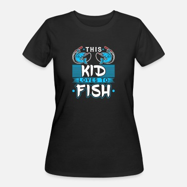 Kids Fishing Gear Fishermen Kid Loves To Fish - Women's 50/50 T-Shirt