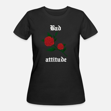 Red Rose Bad attitude heart rose gothic culture grunge - Women's 50/50 T-Shirt