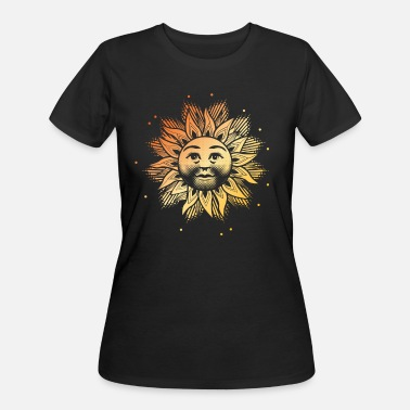 Solstice Happy Solstice Sun Face Solar Winter Sky December - Women's 50/50 T-Shirt
