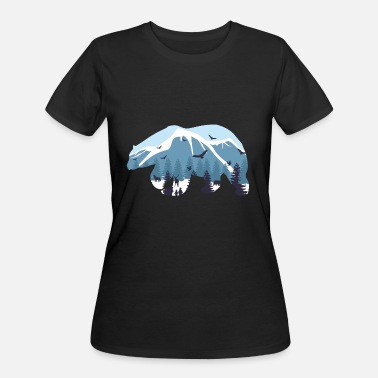 Hudson Polar Bear Mountain Ice Climate Change Gift Idea - Women's 50/50 T-Shirt