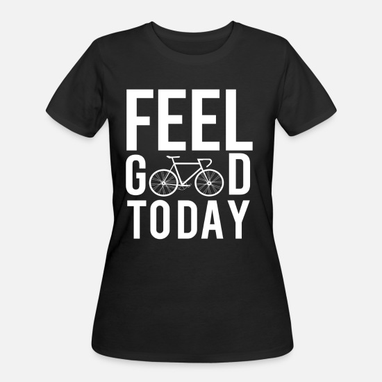 Sports T-Shirts - bicycle bike racing bike racer pedals bicycle helm - Women's 50/50 T-Shirt black