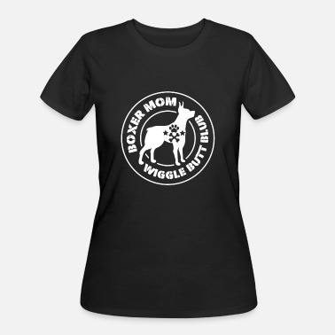 Dog Club Humor Boxer Mom Wiggle Butt Club Dog Gift Puppy Love - Women's 50/50 T-Shirt