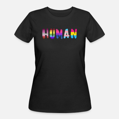 Lgbtq Human pride flag shirt rainbow shirt for women - Women's 50/50 T-Shirt