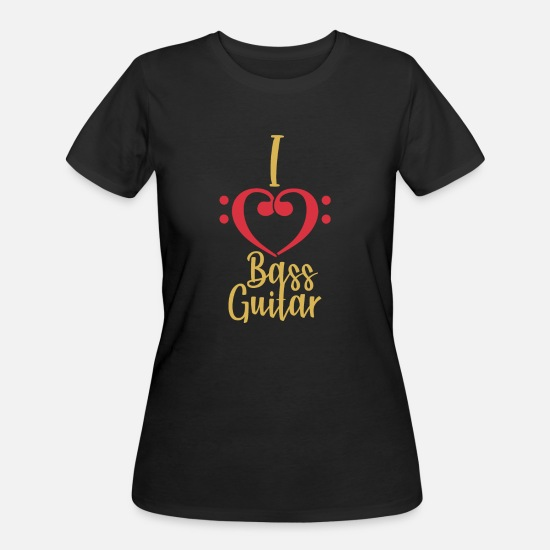 Love T-Shirts - I Love Bass Guitar bassist christmas gift - Women's 50/50 T-Shirt black