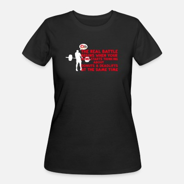 Donuts Gym - Battle, Donuts, Deadlifts - Women's 50/50 T-Shirt