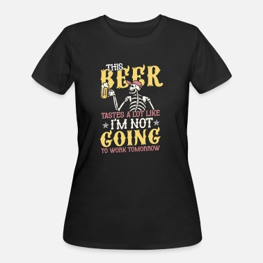TWO BEER OR NOT TO BEER TO BE OR NOT TO BE LADIES T SHIRT ALCOHOL PUB PARTY CLUB