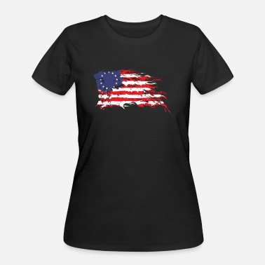 Betsy Ross flag Distressed 1776 Vintage - Women's 50/50 T-Shirt