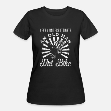 Grandpa Dirt Bike Motocross Cool Old Man Dirt Bike - Women's 50/50 T-Shirt