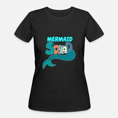 Women Mermaid Squad Mermaid Birthday - Women's 50/50 T-Shirt