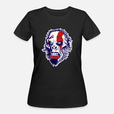 Ape Face Warrior Gorilla Ape Face - Women's 50/50 T-Shirt