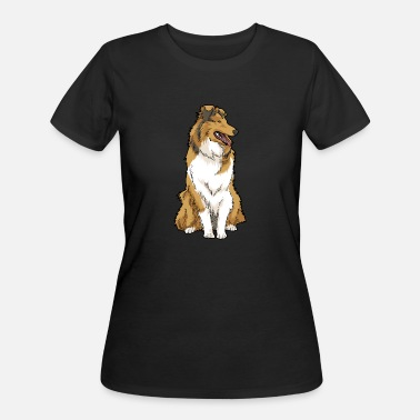 Rough Rough Collie Dog Breed - Women's 50/50 T-Shirt