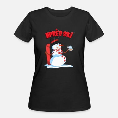 Aprèsski Drunken Snowman - Apres Ski Winter Skiing Lodge - Women's 50/50 T-Shirt