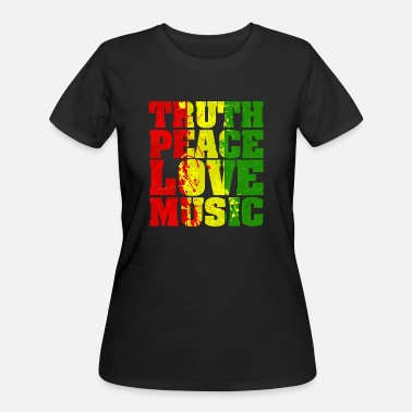 Reggae Music Funny Reggae - Truth Peace Love Music - Culture - Women's 50/50 T-Shirt