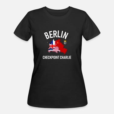 West Berlin Berlin Checkpoint Charlie Ost West DDR Deutschland - Women's 50/50 T-Shirt