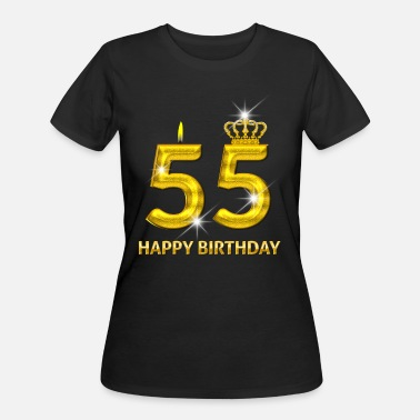 Happy 55th Birthday 55 - Happy Birthday - Golden Number - Women's 50/50 T-Shirt