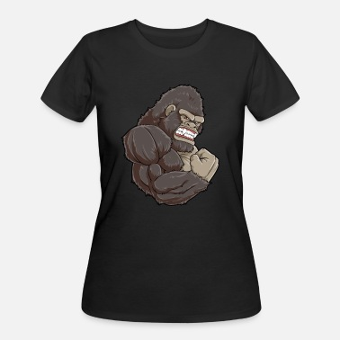 Gorilla Gym Gorilla At The Gym | Fitness Training Muscles - Women's 50/50 T-Shirt