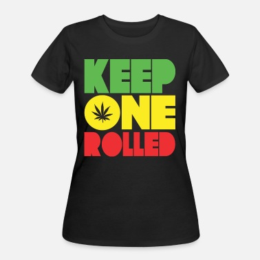 Rolled Keep One Rolled Rasta Design - Women's 50/50 T-Shirt