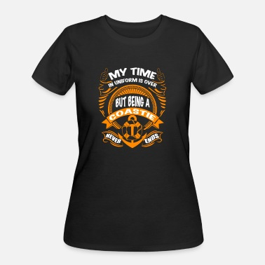 Time Uniform Coastie - My time in uniform is over - Women's 50/50 T-Shirt