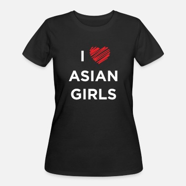 Asian Painting ASIAN GIRL - I LOVE ASIAN GIRLS - Women's 50/50 T-Shirt
