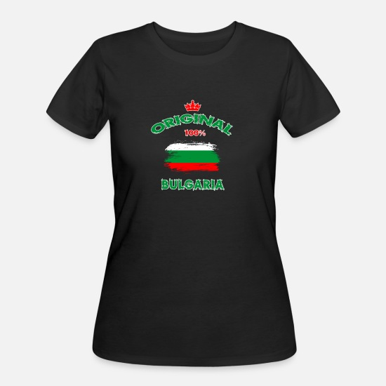 Balkan T-Shirts - Bulgaria Original 100% / Flag Gift Sofia - Women's 50/50 T-Shirt black