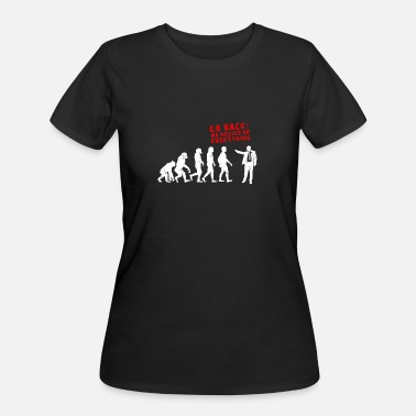 Mess Up Evolution Messed Up Funny - Women's 50/50 T-Shirt