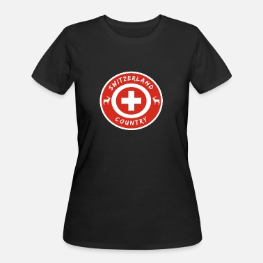National Colours Switzerland Circle with National Colours / Gift - Women's 50/50 T-Shirt