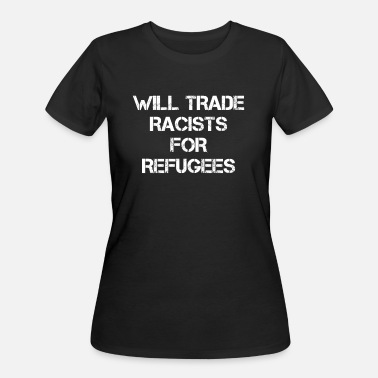 Anti Racism Anti Racism Nazi Fascism Refugees Welcome - Women's 50/50 T-Shirt