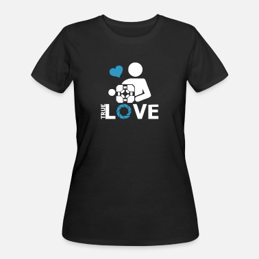 Portal Portal true love Aperture lab video gamer telepo - Women's 50/50 T-Shirt