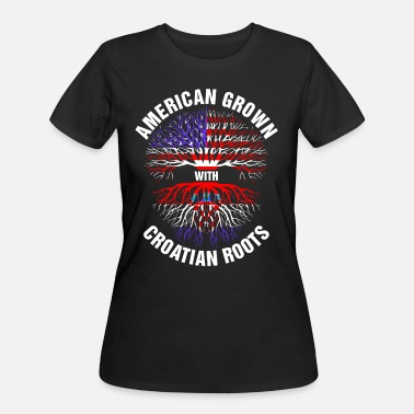 Croatian Roots American Grown Croatian Roots - Women's 50/50 T-Shirt