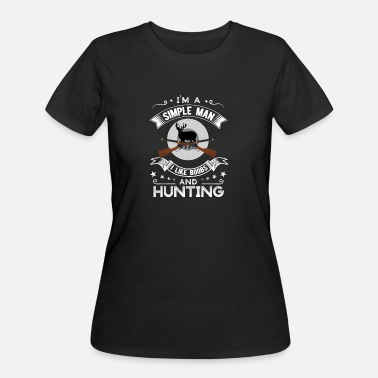 Boobs Mountain I'm a simple man I like boobs and Hunting - Women's 50/50 T-Shirt