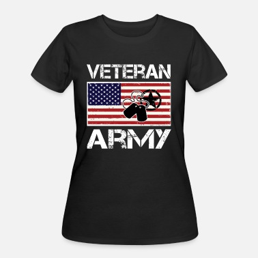 Us Army Woman Veteran US Army Veteran Combat Veteran Military Shirt - Women's 50/50 T-Shirt