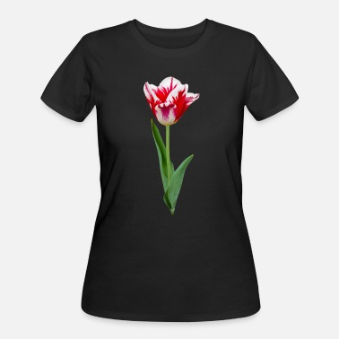 Red County Red, White Tulip Lover Flower Blossom Holland - Women's 50/50 T-Shirt