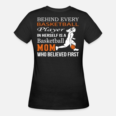 Herself In Herself Is A Basketball Mom - Women's 50/50 T-Shirt