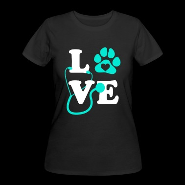 Love Vet Tech Shirt - Women's 50/50 T-Shirt