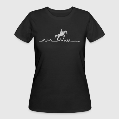 Horse Heartbeat Equestrian Shirts For Girls & Teens - Women's 50/50 T-Shirt