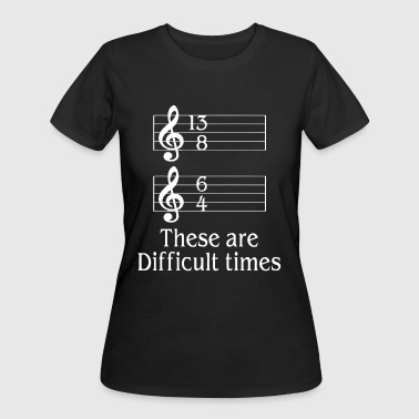 Music there are difficult times - Women's 50/50 T-Shirt