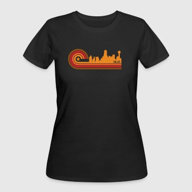 Retro Style Dallas Texas Skyline - Women's 50/50 T-Shirt