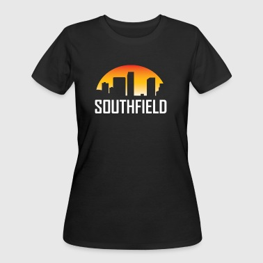 Southfield Michigan Sunset Skyline - Women's 50/50 T-Shirt