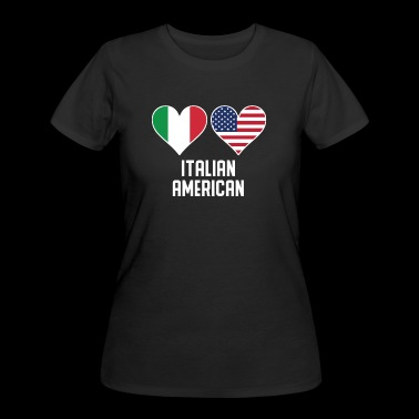 Italian American Heart Flags - Women's 50/50 T-Shirt