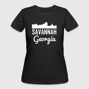 Savannah Georgia Skyline - Women's 50/50 T-Shirt