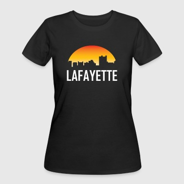 Lafayette Louisiana Sunset Skyline - Women's 50/50 T-Shirt