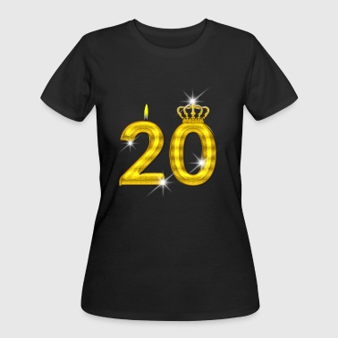 20 - Birthday - Golden Number - Crown - Flame - Women's 50/50 T-Shirt