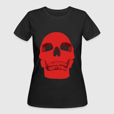 Skull Face – Red - Women's 50/50 T-Shirt