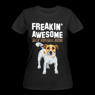 Freaking Awesome Jack Russell Mom - Women's 50/50 T-Shirt