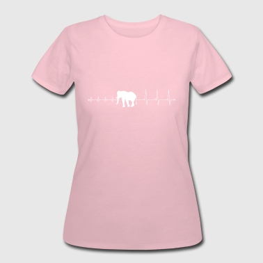 Elephant Heartbeat heartbeat elephant - I love elephants - Women's 50/50 T-Shirt
